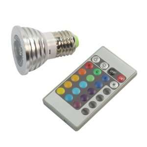 Remote Control LED Light Bulb E27 3W 85 240V 16 color