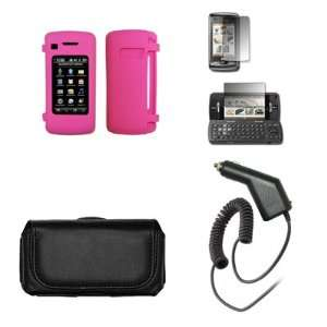 LG enV Touch VX11000 Premium Black Leather Carrying Pouch+