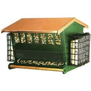Farms 7456 Seed n Suet Feeder with Solid Copper Top Patio, Lawn