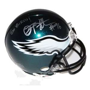 Omar Gaither Autographed Philadelphia Eagles Replica Mini Helmet