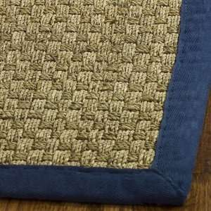 and Blue Seagrass Square Area Rug, 6 Feet Square
