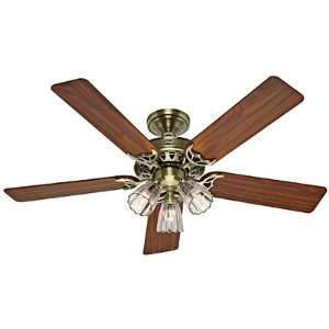 Hunter 26420 52 Ceiling Fan, Antique Brass Finish with