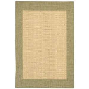 Couristan Recife Checkered Field Indoor/Outdoor Area Rug   Natural