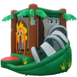 Safari Themed Inflatable Bounce House With Slide Toys & Games