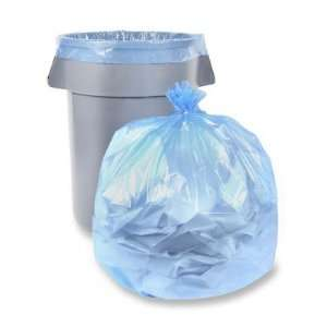 39 x 58 55 Gallon Blue Recycling Trash Liner