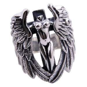 Mens Guardian Angel Ring .925 Silver High Quality Material Fine