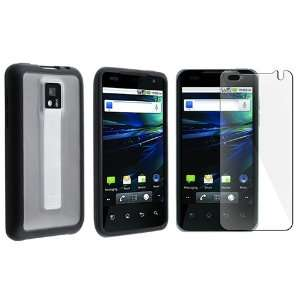 Clear with Black Trim TPU Rubber Skin Case with Free