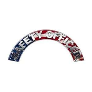 Safety Officer American Flag Firefighter Fire Helmet Arcs