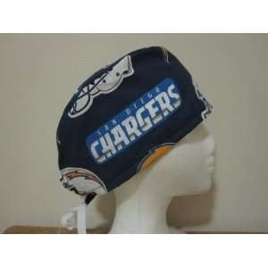 Mens Scrub Cap, Surgical Hat, San Diego Chargers NFL