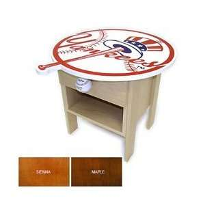 New York Yankees Side Table   Maple One Size