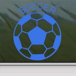 Soccer Ball Futbol Blue Decal Car Truck Window Blue