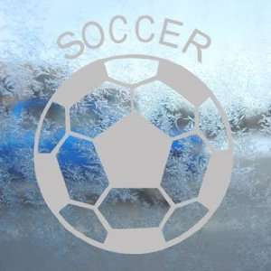 Soccer Ball Futbol Gray Decal Car Truck Window Gray