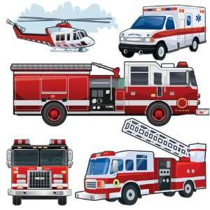 com Fire Truck & Vehicle Wall Stickers Peel & Stick Large Wall Decals