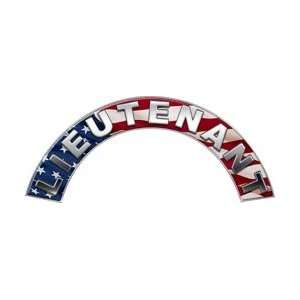 American Flag Firefighter Fire Helmet Arcs / Rocker Decals Reflective