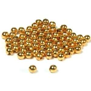 75 Gold Plated Ball Beads Round Stringing Beading 3mm