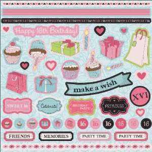 , Sweet 16 Elements Designs, Single Sheets Arts, Crafts & Sewing