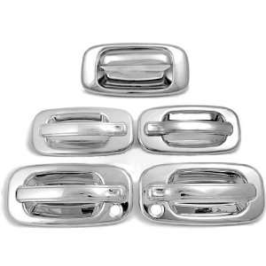 Easily Fit 3M Adhesive Chrome Door Handle Tailgate Cover Trim Set for