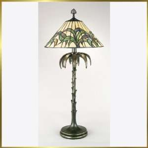 Tiffany Table Lamp, QZTF6923NO, 2 lights, Antique Bronze, 15 wide X