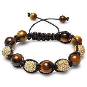 Bracelet Mens Ladies Unisex Hip Hop Style 12mm Tiger Eye