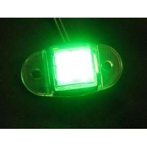 Green LED Marker Light Accent Dragon Truck Trailer Oval Automotive