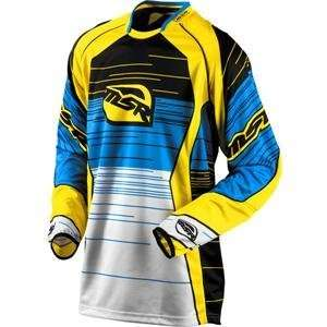 MSR Racing NXT Jersey   Large/Cyan/Yellow Automotive