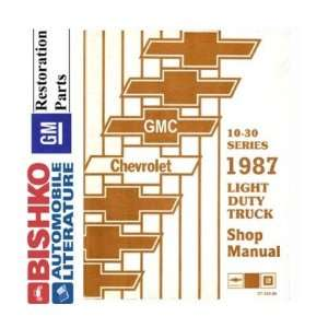 1987 CHEVY GMC 10 35 PICKUP TRUCK Shop Manual CD Automotive