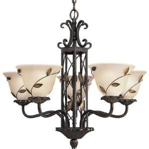 Lighting Eden 9 Light Chandelier In Forged Bronze