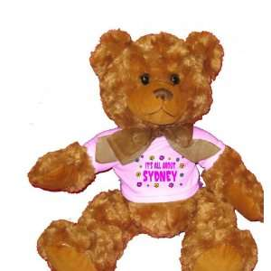 All About Sydney Plush Teddy Bear with WHITE T Shirt Toys & Games