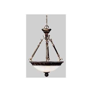 Indies Collection Hanging Globe Light Fixture In Mahogany With Silver