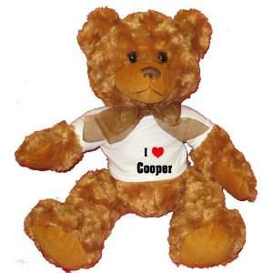 Love/Heart Cooper Plush Teddy Bear with WHITE T Shirt  Toys & Games
