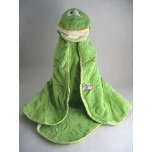 Hooded animal towel   green frog Douglas Baby Everything