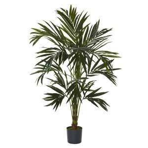 NEW 6 SILK KENTIA PALM TREE ARTIFICIAL FAKE TROPICAL HOUSE PLANT