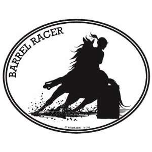 HORSE  BARREL RACING DECAL  Horse riding cowgirl that loves riding