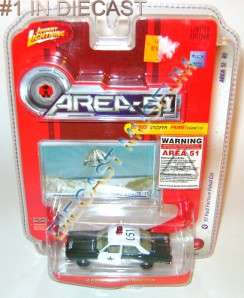 1967 67 FORD FAIRLANE PATROL POLICE COP CAR AREA 51 DIECAST JOHNNY
