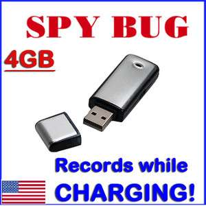 New Digital 4GB Spy Voice Recorder Hidden Rechargeble USB Flash Drive
