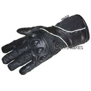 NEW G92 MOTORCYCLE GLOVES WATERPROOF LEATHER BLACK XL