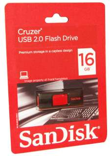 SANDISK CRUZER 16GB USB FLASH MEMORY JUMP DRIVE 16 GB