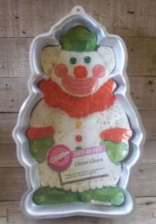Wilton Circus Clown Cake Party Pan 1986 Old New